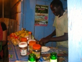 Our friend, Safa, and his Chipati Stand